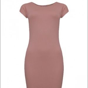 Pink short sleeve bodycon